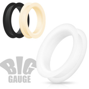 Double Flat Flared Tunnel Plug Ultra Soft Ear Expansions