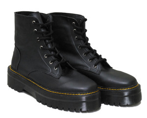 Black Vegan 7i Platform Combat Boots