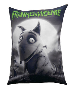 Frankenweenie - Sparky Moon Throw Pillow