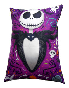 Jack Skellington Purple Throw Pillow