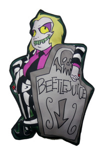 Beetlejuice  - Here Lies Throw Pillow