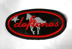 """Deftones - Logo 4.5x2.5"""" Embroidered Patch"""