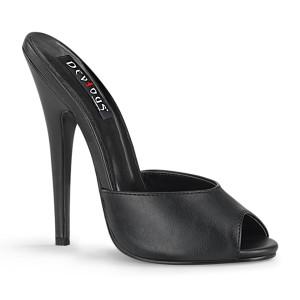 """6"""" Stiletto Heel Peep Toe Slides"""
