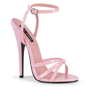 """6"""" Pink Patent Leather Strappy Stiletto Heels"""