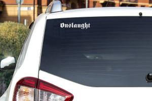 "Onslaught - Logo 6.5x1.5"" Vinyl Cut Sticker"