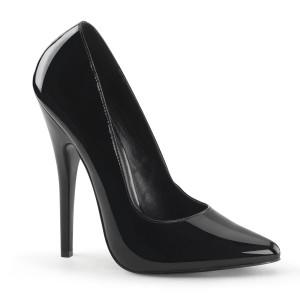 "6"" Black Patent Leather Classic Pump Stiletto Heels"