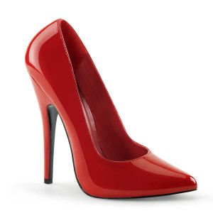 """6"""" Red Patent Leather Classic Pump Stiletto Heels"""