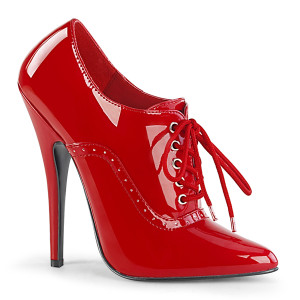 """6"""" Red Patent Leather Oxford Lace-Up Stiletto Heels"""