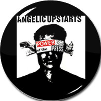 "Angelic Upstarts - Power of the Press 1"" Pin"