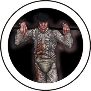 "Alex DeLarge - A Clockwork Orange 1"" Pin"
