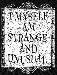 "Beetlejuice - I Myself Am Strange and Unusual 12x15"" Backpatch"