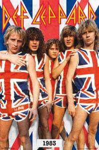 "Def Leppard - 1983 British Flag 24x36"" Poster"