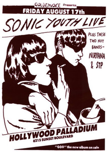 """Sonic Youth - Goo 1983 24x36"""" Poster"""