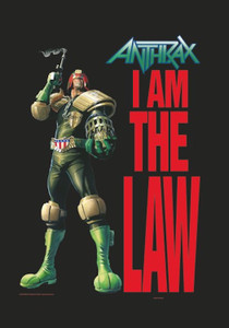 """Anthrax - I Am The Law 30x43"""" Poster Flag"""