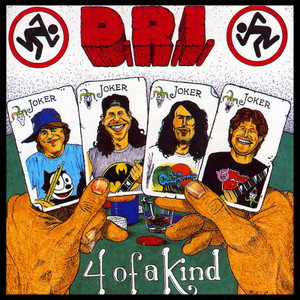 "D.R.I. - 4 of a Kind 10.5x10.5"" Color Backpatch"
