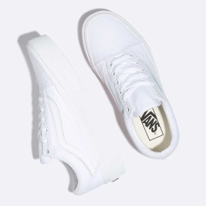 Vans - Old Skool White Platforms