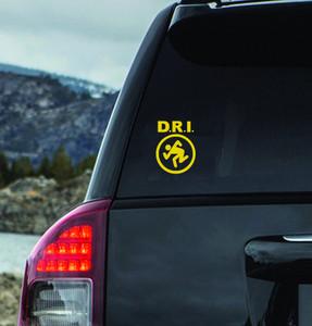 "D.R.I. - Logo 5x4"" Vinyl Cut Sticker"