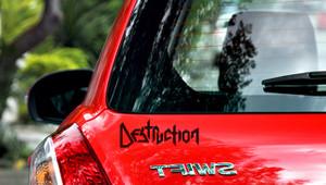 "Destruction - Logo 7x3"" Vinyl Cut Sticker"