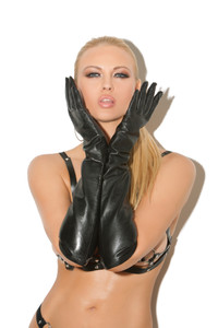Leather Long Sleeve Gloves
