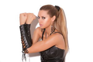 Leather Armlets with Lace Up
