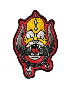 """Simpson Homerhead 3x4"""" Embroidered Patch"""