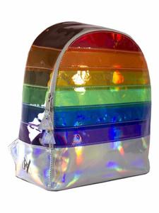 OVS It Transparent Rainbow Holo Backpack