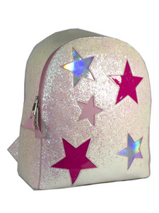 Jem Treqr Pink Stars Iridescent Backpack
