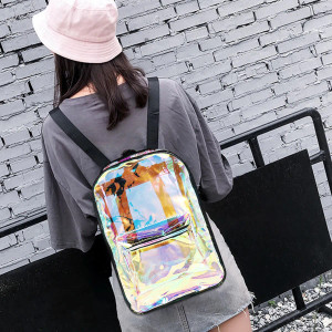 Holographic Rectangular Backpack