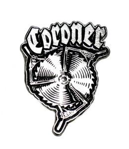 "Coroner - Blades  2"" Metal Badge"