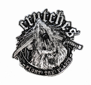 """Crutches - Fight The Plague  2"""" Metal Badge"""