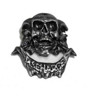 """Discharge  2.5"""" Metal Badge"""