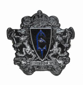 "Emperor - 1991  2.5"" Metal Badge"