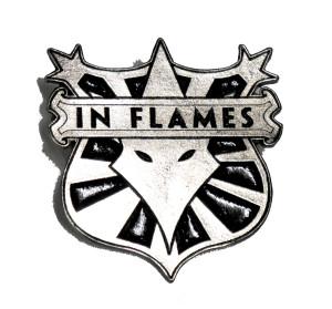 "In Flames - Coat of Arms 2"" Metal Badge"