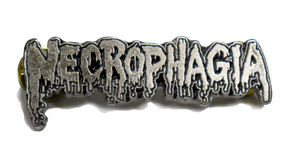 "Necrophagia 2"" Logo Metal Badge"