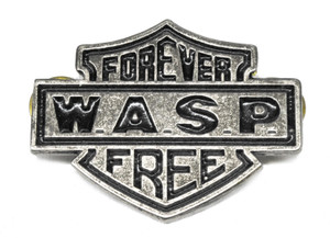 "W.A.S.P. - Forever Free 2"" Metal Badge"