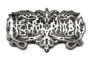 """Necrophobic 2.5"""" Metal Badge"""