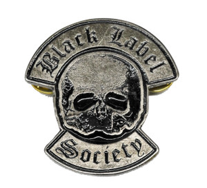 """Black Label Society - Skull 2"""" Metal Badge"""