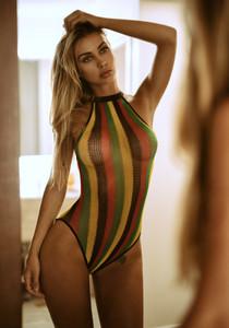 Brasilian Rasta Fishnet Bikini Teddy