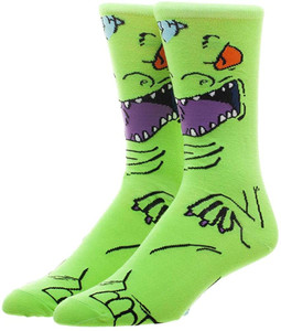 Rugrats Reptar Dinosaur 360 Character Unisex Socks