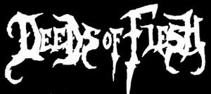 "Deeds of Flesh Logo 5x3"" Printed Patch"