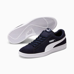 PUMA - Smash v2 Navy Blue Classic Suede Men's Sneakers