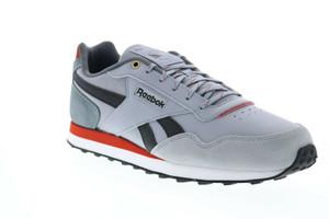 Reebok - Men's  Grey and Red CL Harman Run LT Sneakers