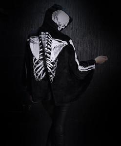 Glow in the Dark Skeleton Womens Bat Cape