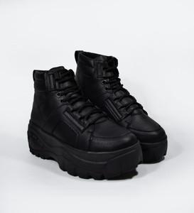 XANA - Black Bull Bootie Platform Boots