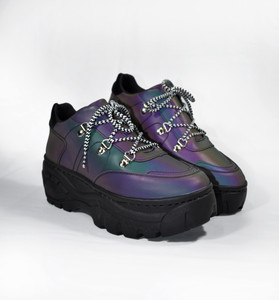 XANA - Multicolor Holographic Platform Sneakers