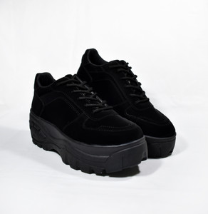 XANA - Black Chunky Platform Sneakers