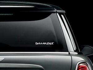 """Discharge - Logo 7x1"""" Vinyl Cut Sticker"""