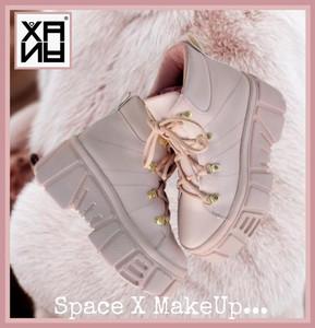 XANA - Pale Pink Chunky Platform Boots