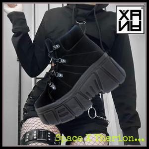 XANA - Black Chunky Platform Boots