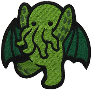 "Chibi Cthulhu 3"" Embroidered Patch"